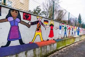 Malereien auf einer Schule