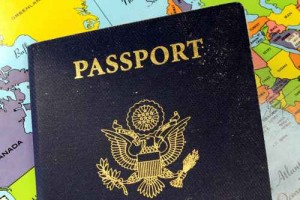 United States Travel Passport With Map